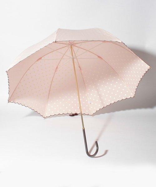 pink trick(ピンクトリック)/雨晴兼用 長傘 (UVカット&軽量) インドット/34777_img01