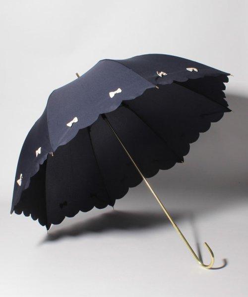 pink trick(ピンクトリック)/雨晴兼用 長傘 (UVカット&軽量) カラフルリボン/34782_img01