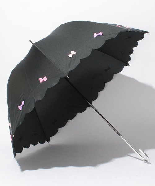 pink trick(ピンクトリック)/雨晴兼用 長傘 (UVカット&軽量) カラフルリボン/39636_img01
