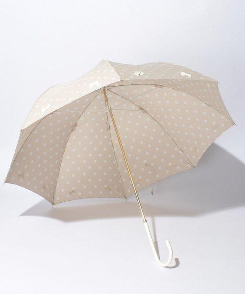 pink trick(ピンクトリック)/雨晴兼用 長傘 (UVカット&軽量) フレーミングリボン ドット /35056_img01