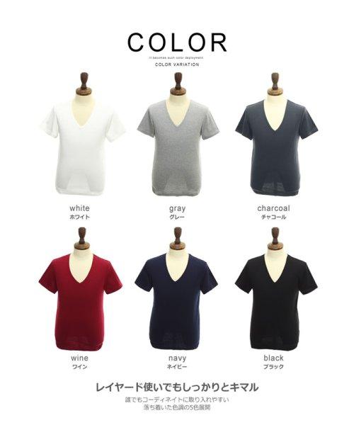 improves(インプローブス)/【IMP】T/Cフライス深Vネック半袖Tシャツ/97843_img02