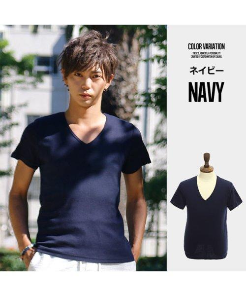 improves(インプローブス)/【IMP】T/Cフライス深Vネック半袖Tシャツ/97843_img10