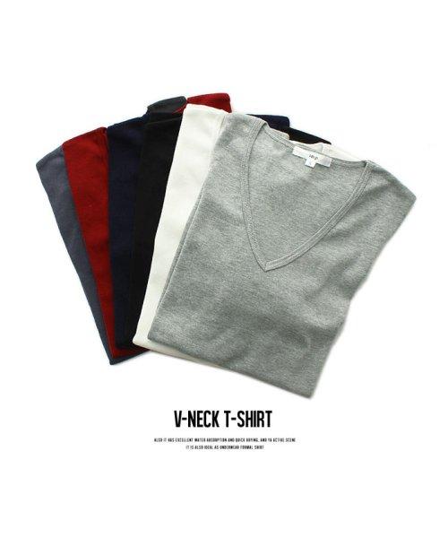 improves(インプローブス)/【IMP】T/Cフライス深Vネック半袖Tシャツ/97843_img12