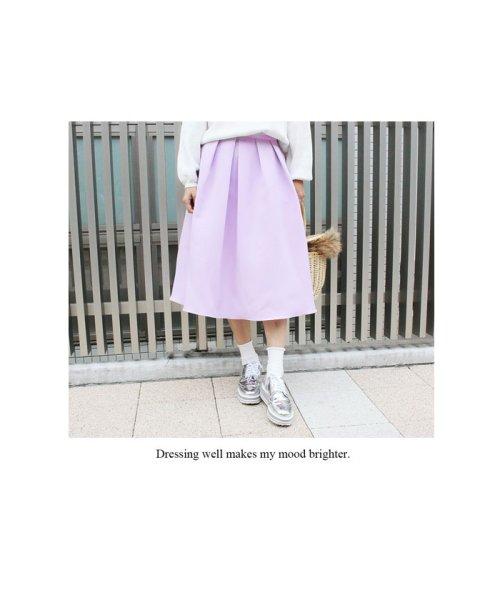 MODE ROBE(モードローブ)/パステルカラー フレアスカート ミモレ丈/MR2505_img07