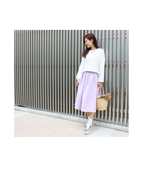 MODE ROBE(モードローブ)/パステルカラー フレアスカート ミモレ丈/MR2505_img09