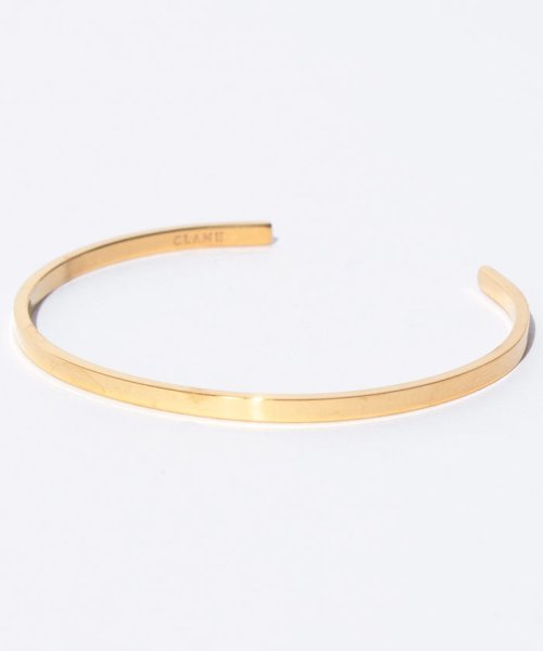 CLANE(クラネ)/SLIM PLATE BANGLE GOLD/111363071_img01