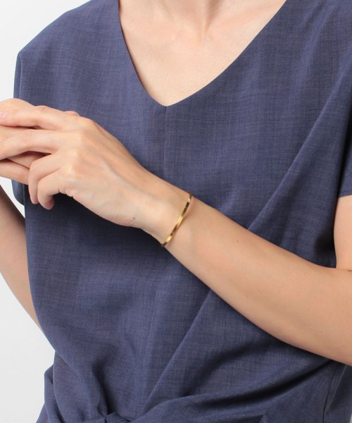 CLANE(クラネ)/SLIM PLATE BANGLE GOLD/111363071_img05