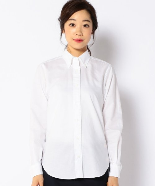 SHIPS WOMEN(シップス ウィメン)/RIKACO for SHIPS: ALBIATEオックスボタンダウンシャツ/311140314_img01