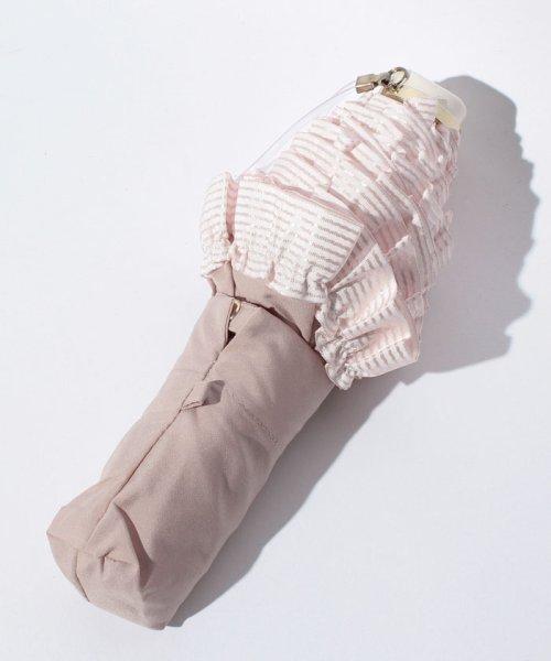 pink trick(ピンクトリック)/雨晴兼用 3段折傘 (UVカット&軽量) ボーダーフリル/84960_img02