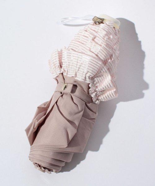 pink trick(ピンクトリック)/雨晴兼用 3段折傘 (UVカット&軽量) ボーダーフリル/84960_img03
