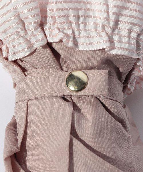 pink trick(ピンクトリック)/雨晴兼用 3段折傘 (UVカット&軽量) ボーダーフリル/84960_img04