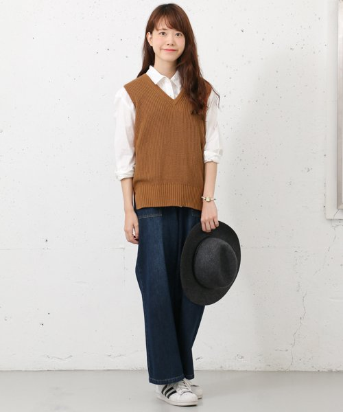 URBAN RESEARCH OUTLET(アーバンリサーチ アウトレット)/【WAREHOUSE】V/N畦ニットベスト2/WH6422M005_img01