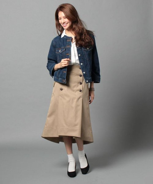 beautiful people(ビューティフルピープル)/ultimate pima twill trench tuck skirt/1725107001_img04