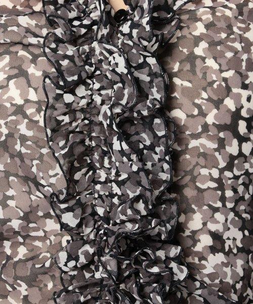NARA CAMICIE(ナラカミーチェ)/アニマル調プリントフリル七分袖シフォンブラウス/106202014_img05