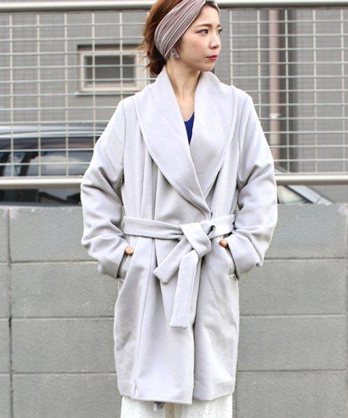 Bou Jeloud(ブージュルード)/◆ざっくり羽織ってサマになる◆ダブルフェイスガウンコート/564919_img01