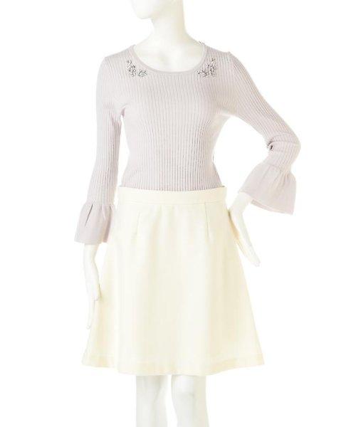 PROPORTION BODY DRESSING(プロポーション ボディドレッシング)/シャイニージュエルベルスリーブニット/1217170102_img02
