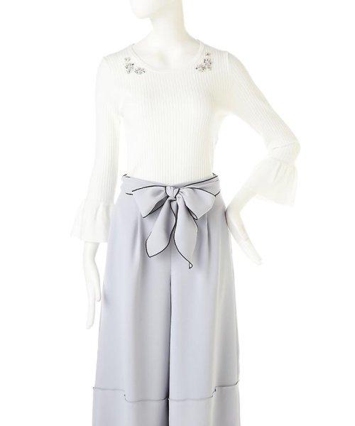 PROPORTION BODY DRESSING(プロポーション ボディドレッシング)/シャイニージュエルベルスリーブニット/1217170102_img04