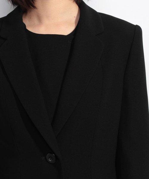 BLACK GALLERY(ブラックギャラリー)/【オールシーズン・ブラックフォーマル・喪服・礼服・葬式・卒業式】テーラードジャケットと前開きレース使いワンピのセットスーツ(アンサンブル)/02P63185_img03