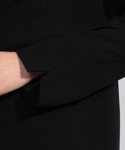 BLACK GALLERY(ブラックギャラリー)/【オールシーズン・ブラックフォーマル・喪服・礼服・葬式・卒業式】テーラードジャケットと前開きレース使いワンピのセットスーツ(アンサンブル)/02P63185_img05