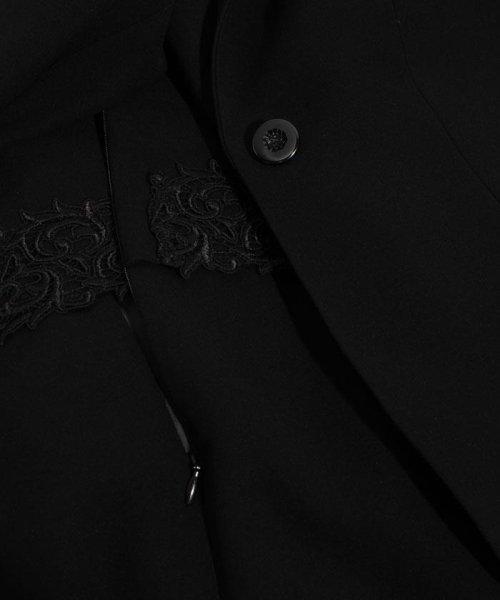 BLACK GALLERY(ブラックギャラリー)/【オールシーズン・ブラックフォーマル・喪服・礼服・葬式・卒業式】テーラードジャケットと前開きレース使いワンピのセットスーツ(アンサンブル)/02P63185_img10