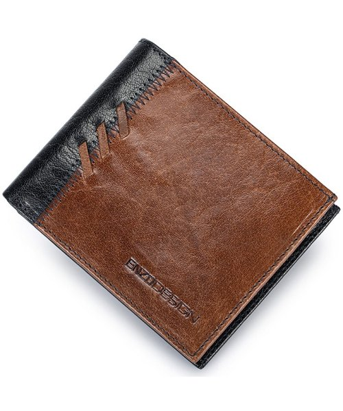 ADC(ADC)/ENZODESIGN アニリンバッファローレザーフリム二つ折り財布/6B956_img01