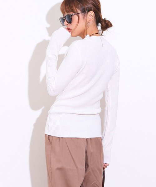 and Me...(アンドミー)/【G-2】ハイネック リブニット トップス 長袖 セーター/6000242_img03