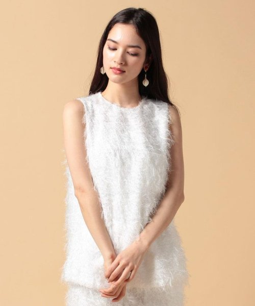 beautiful people(ビューティフルピープル)/【セットアップ対応商品】cut fur cloth top/1715110001_img02