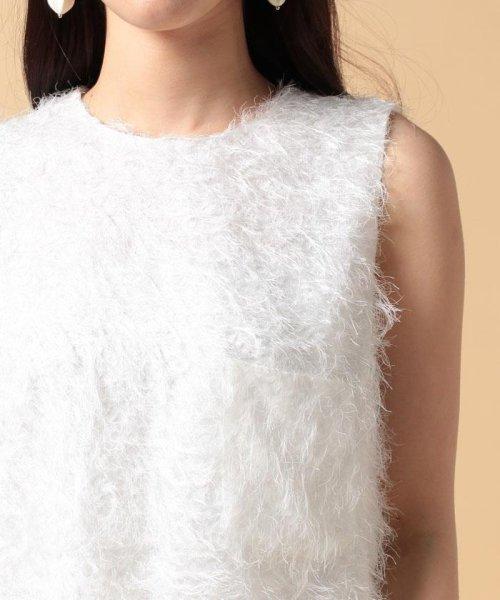 beautiful people(ビューティフルピープル)/【セットアップ対応商品】cut fur cloth top/1715110001_img05