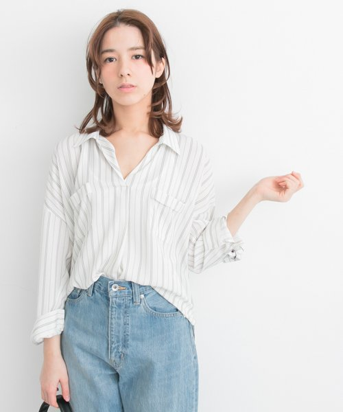 URBAN RESEARCH OUTLET(アーバンリサーチ アウトレット)/【UR】とろみスキッパーブラウス【アーバンリサーチ】/UR7423Q005_img01