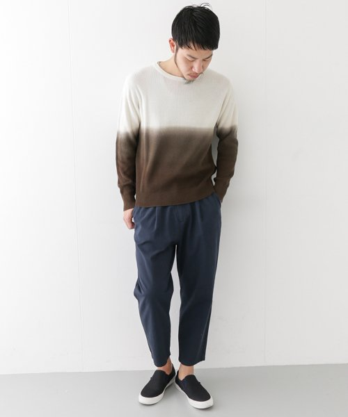 URBAN RESEARCH OUTLET(アーバンリサーチ アウトレット)/【WAREHOUSE】綿レーヨンバイカラーニット/WH7412M015_img01