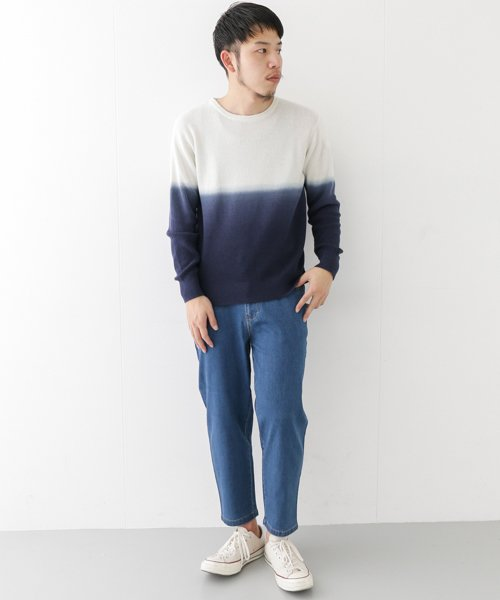 URBAN RESEARCH OUTLET(アーバンリサーチ アウトレット)/【WAREHOUSE】綿レーヨンバイカラーニット/WH7412M015_img02