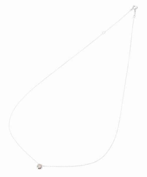 DECOUVERTE(デクーヴェルト)/18KWG 0.2ct ダイヤモンド Fネックレス/17110895810010_img01