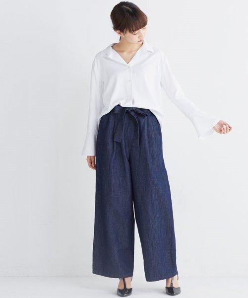 haco!(ハコ)/これ1枚で女っぽさを手に入れる なめらか素材の袖フレアーシャツ/449536_img11
