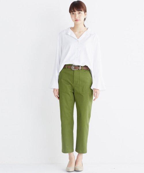 haco!(ハコ)/これ1枚で女っぽさを手に入れる なめらか素材の袖フレアーシャツ/449536_img14