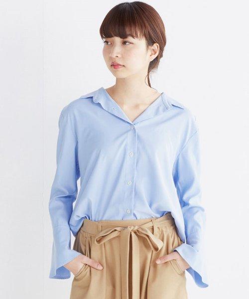 haco!(ハコ)/これ1枚で女っぽさを手に入れる なめらか素材の袖フレアーシャツ/449536_img19