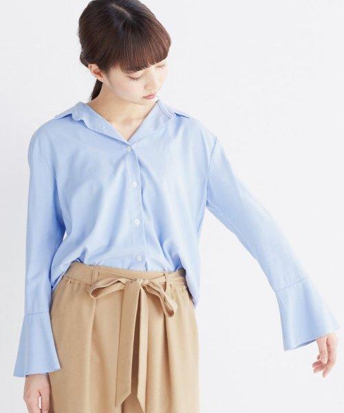 haco!(ハコ)/これ1枚で女っぽさを手に入れる なめらか素材の袖フレアーシャツ/449536_img20