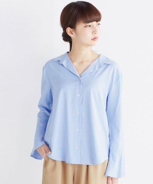 haco!(ハコ)/これ1枚で女っぽさを手に入れる なめらか素材の袖フレアーシャツ/449536_img21