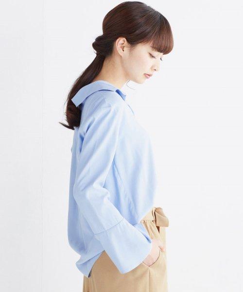 haco!(ハコ)/これ1枚で女っぽさを手に入れる なめらか素材の袖フレアーシャツ/449536_img23