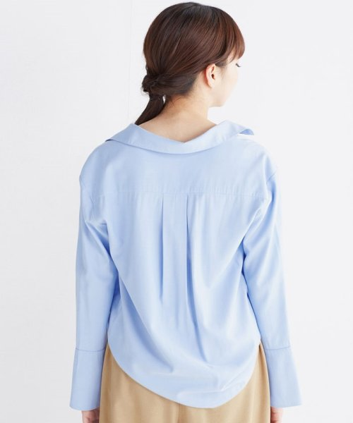 haco!(ハコ)/これ1枚で女っぽさを手に入れる なめらか素材の袖フレアーシャツ/449536_img24
