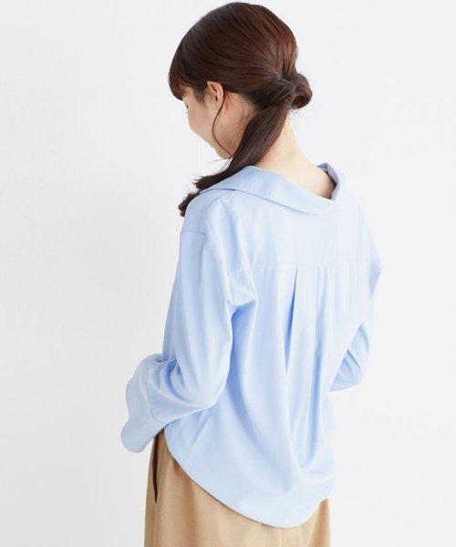 haco!(ハコ)/これ1枚で女っぽさを手に入れる なめらか素材の袖フレアーシャツ/449536_img25