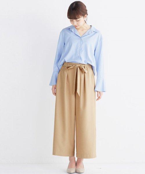 haco!(ハコ)/これ1枚で女っぽさを手に入れる なめらか素材の袖フレアーシャツ/449536_img26