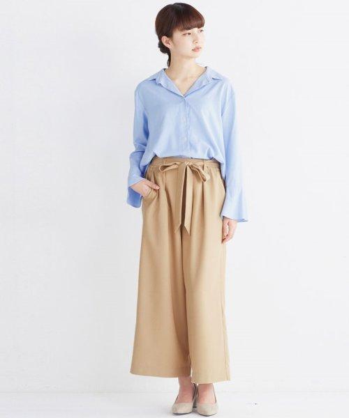 haco!(ハコ)/これ1枚で女っぽさを手に入れる なめらか素材の袖フレアーシャツ/449536_img27