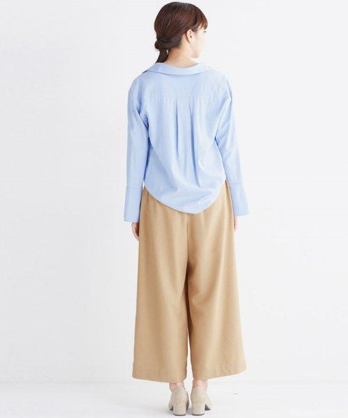 haco!(ハコ)/これ1枚で女っぽさを手に入れる なめらか素材の袖フレアーシャツ/449536_img29