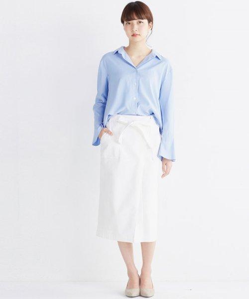 haco!(ハコ)/これ1枚で女っぽさを手に入れる なめらか素材の袖フレアーシャツ/449536_img30