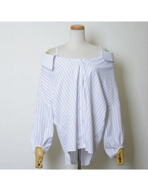 Re:EDIT(リエディ)/ストラップ付きストライプシャツ/121676_img03