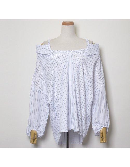 Re:EDIT(リエディ)/ストラップ付きストライプシャツ/121676_img05