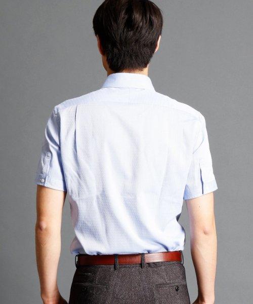 MONSIEUR NICOLE(ムッシュニコル)/波紋ストライプ柄ボタンダウンシャツ/7262-8805_img01