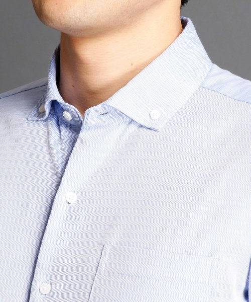 MONSIEUR NICOLE(ムッシュニコル)/波紋ストライプ柄ボタンダウンシャツ/7262-8805_img03
