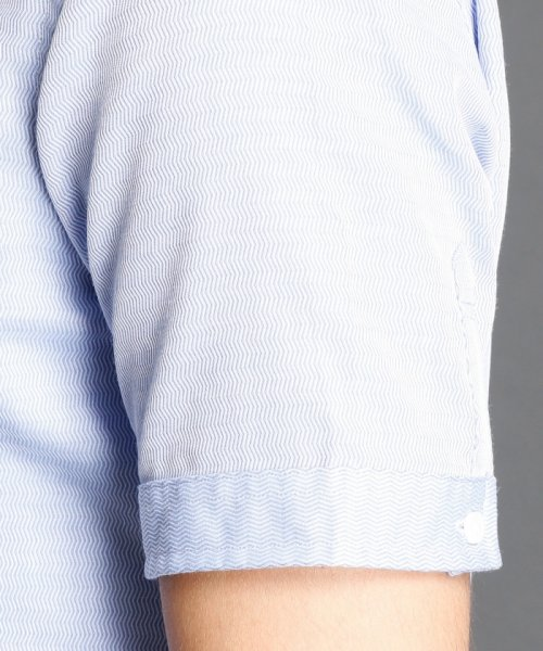 MONSIEUR NICOLE(ムッシュニコル)/波紋ストライプ柄ボタンダウンシャツ/7262-8805_img04