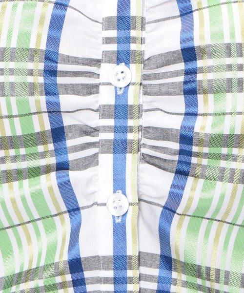 NARA CAMICIE(ナラカミーチェ)/スタンドカラーチェック半袖シャツ/107104034_img07